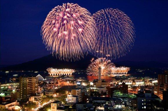 錦江湾サマーナイト花火大会2019穴場スポットと場所取り!