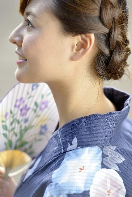 浴衣の髪型の簡単ヘアアレンジ【ミディアム・ショート・ボブ】